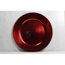Plastová tácek - červený (p. 33 cm) vánoční