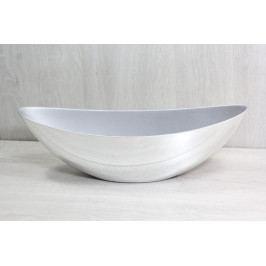 Plastová mísa - stříbrná (39x13x11,5 cm)
