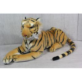 Plyšový tygr - žluto-černý (24x48 cm)