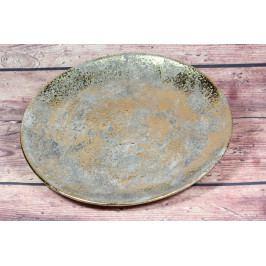 Keramická tácek zlato-šedá (p. 31 cm)