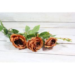 Umělá kytice RŮŽÍ - cihlová (v. 103 cm)