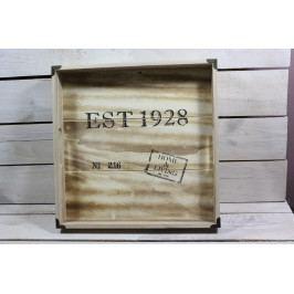 Dřevěný tácek Est 1928 (34x34 cm)