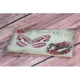Keramický tácek - motýl 1. (28x13 cm)
