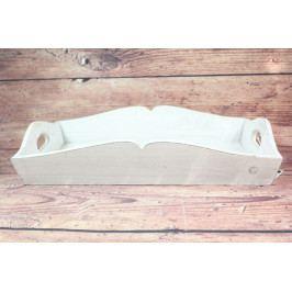 Dřevěná tácek - bílá (53x9x34,5 cm)