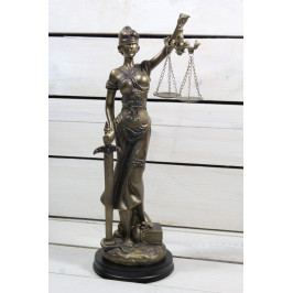 Socha spravedlnosti JUSTICE (v. 33 cm) vzor 930 - staré zlato