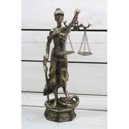 Socha spravedlnosti JUSTICE (v. 27,5 cm) vzor 932 - staré zlato