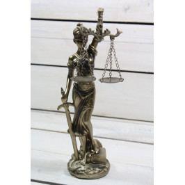 Socha spravedlnosti JUSTICE (v. 25 cm) vzor 934 - staré zlato