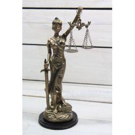 Socha spravedlnosti JUSTICE (v. 23 cm) vzor 935 - staré zlato