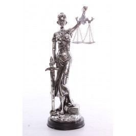Socha spravedlnosti JUSTICE (v. 33cm) vzor 931 - stříbrná