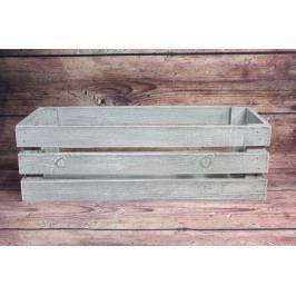 Dřevěná bednička - šedá (50x16x20 cm)