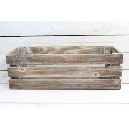 Dřevěná bednička - hnědá (50x16x20 cm)