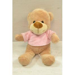 Plyšový medvídek v růžovém tričku (v. 22 cm)