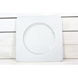 Umělá tácek - stříbrná (33x33 cm)