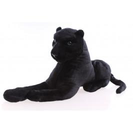 Plyšový LEOPARD - černý (24x48 cm)