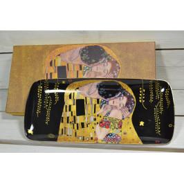 Keramický tácek (GUSTAV KLIMT) v dárkové krabici (30x13,5 cm) - černá