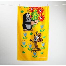 Matějovský osuška Krtek a květiny 70x150 cm