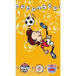 Osuška Fotbal - žlutá 60x115 cm