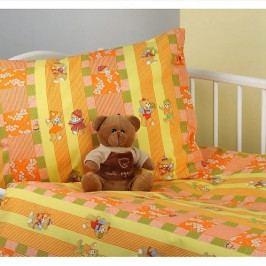 Dětské povlečení bavlna do postýlky Medvídci oranž 90x130 / 40x60