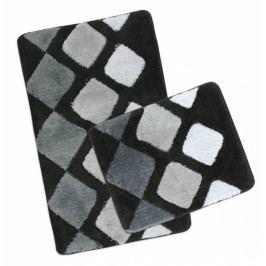 Bellatex koupelnová předložka ULTRA sada šedá dlaždice 60x100 + 60x50 cm  bez výkroje WC