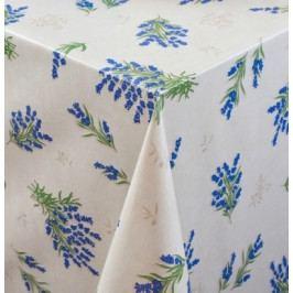 Ubrusovina PVC s textilním podkladem š.140cm levandule