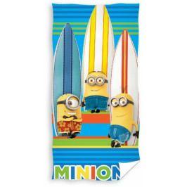 Dětská osuška Minions - Mimoni surfaři 70 x 140 cm