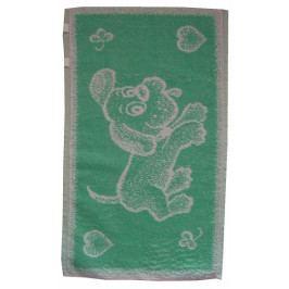 Dadka dětský froté ručník Pejsek světle zelený 30x50 cm