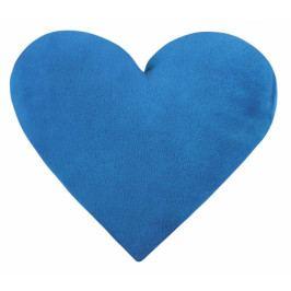 Bellatex polštář dekorační SRDCE Korall micro modré