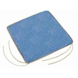 Bellatex sedák hladký Adéla 40x40 cm bílá kytička na modré