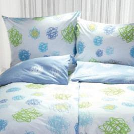 Stanex povlečení bavlna Orbit modro-bílý (LS87) 140x200+70x90 cm