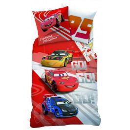 CTI dětské povlečení bavlna Cars Go Go Go 140x200+70x90 cm