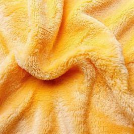 Jahu prostěradlo mikroflanel žlutá 90x200x25 cm