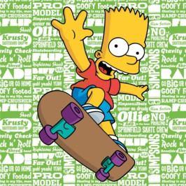 Jerry Fabrics polštářek Simpsons Bart 2016 40x40 cm