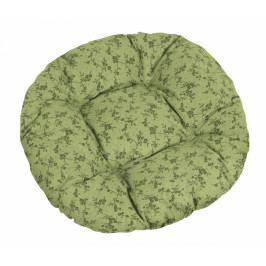 Bellatex sedák kulatý prošívaný Adéla větvička tmavě zelená
