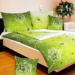 Povlečení krep č.2 Pampeliška zelená 140x200+70x90 cm