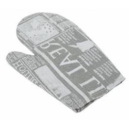 Bellatex kuchyňská chňapka noviny šedé