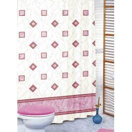 Bellatex koupelnový závěs 180 x 200 cm růžové čtverce