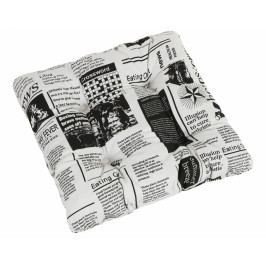 Bellatex sedák prošívaný Berta 40x40 cm noviny