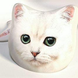 Dětský polštářek 3D kočka bílá