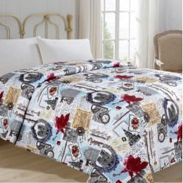 Jahu přehoz na postel 140x220 cm Hodiny