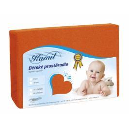 Bellatex dětské froté prostěradlo 60x120 cm 049 oranžová