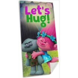 Dětská osuška Trollové Poppy a Větvík 70x140 cm