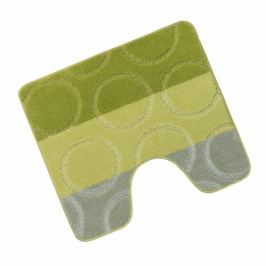 Bellatex koupelnová předložka AVANGARD zelené kroužky wc 60x50 cm