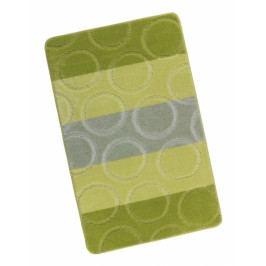 Bellatex koupelnová předložka AVANGARD zelené kroužky 60x100 cm