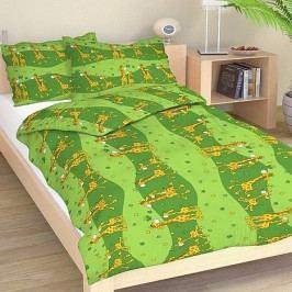 Dadka povlečení bavlna Žirafa zelená 140x200+70x90 cm
