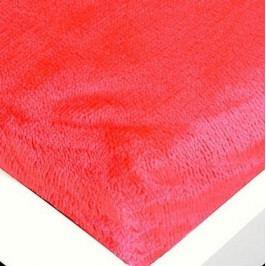 Jahu prostěradlo mikroflanel červená 180x200x25 cm
