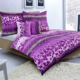 Povlečení krep č.59 fialová romantika 140x200+70x90 cm
