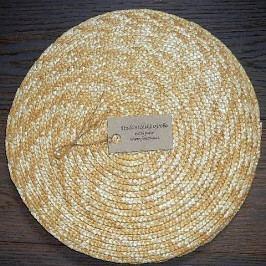 Prostírání slámové kulaté průměr 30 cm přírodní