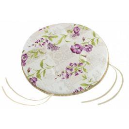 Bellatex sedák kulatý hladký EMA fialové květy