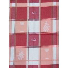 Utěrka bavlna plátnová 48 x 68 cm víno červené