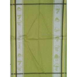Utěrka bavlna plátnová 48 x 68 cm coffee time green
